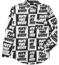Lazy Oaf Black/White Fuck This Noise L/S Shirt Picutre