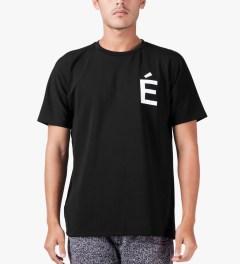 Études Studio Black Net Powder Slim Net S/S Crewneck T-Shirt Model Picutre