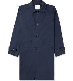 Liful Navy Polka Dot Lined Single Coat Picture