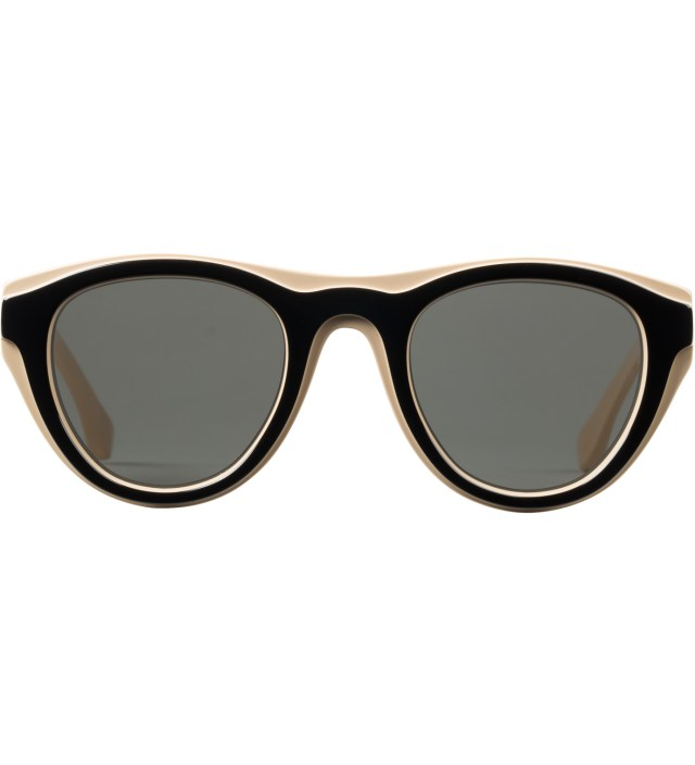 Mykita x Maison Martin Margiela Nude/Black MMDUAL003 Dark Grey Solid Sunglasses