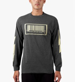 Rare Panther Charcoal RP Barcode L/S T-Shirt Model Picture