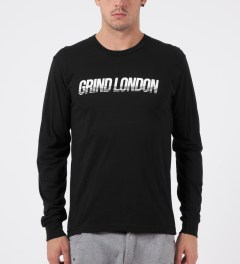 Grind London Black Grind London L/S T-Shirt Model Picture