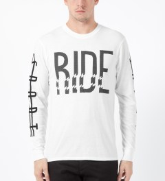 ICNY White Ride L/S Basic T-Shirt Model Picture