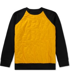 Christopher Raeburn Black/Yellow Quilted Raglan Sweater Picture