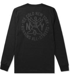 ICNY Black Running Club L/S T-Shirt Model Picutre