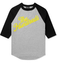 The Hundreds Athletic Heather/Black ¾ Sleeve Slant Baseball T-Shirt Picture
