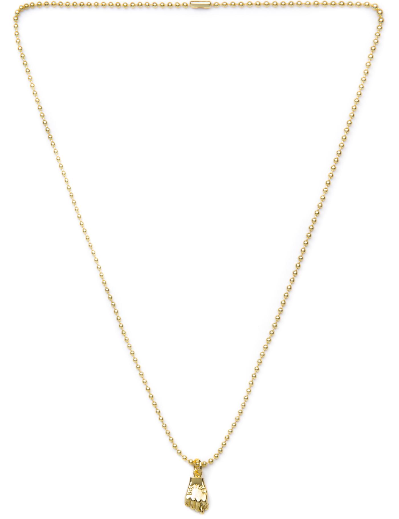 Ssur Caviar Cartel Gold Figa Fist Necklace Hypebeast Store