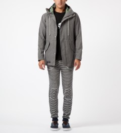 Band of Outsiders Blue Loop Stripe Sweatpants Model Picture