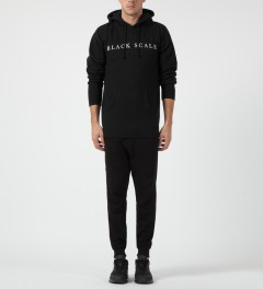 Black Scale Black Left Hand Path Pullover Hoodie Model Picture