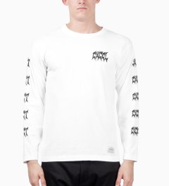 FUCT SSDD White FUCT SSDD X EXCEL L/S T-Shirt Model Picture