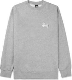 Stussy Heather Grey Basic Logo Crewneck Sweater Picture