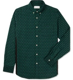 Liful Green Wool Puzzle Shirt Picture
