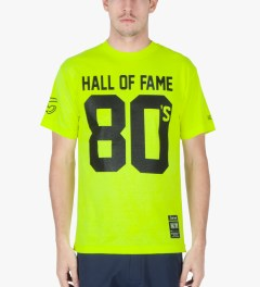 Hall of Fame Safety Green 80's T-Shirt Model Picture