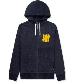 Undefeated Indigo Chain Zip Up Hoodie Picture