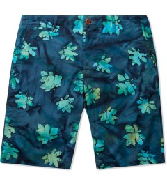 Mark McNairy Blue Batik Batik Chino Shorts Picture