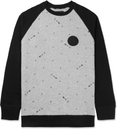 Us Versus Them Heather Grey Las Cruces Raglan Crewneck Sweater Picture