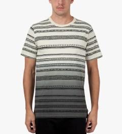 Stussy Black Fade Tom Tom Crewneck T-Shirt Model Picutre