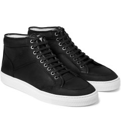 ETQ Dark Anthracite High Top Sneakers Model Picture
