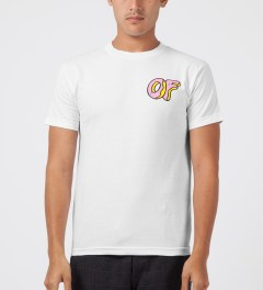 Odd Future White/Pink OF Donut T-Shirt Model Picutre