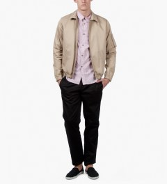 A.P.C. Taupe Blouson Scooter Jacket Model Picutre