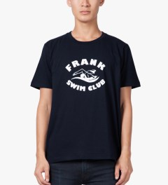 Frank Navy Swim Club T-Shirt Model Picutre