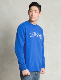 Stussy Middle Blue O.G. Stock EMB. Sweater Picture