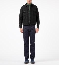 Naked & Famous Black Quilted Denim Jacket Model Picutre
