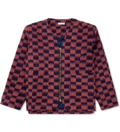 FACETASM Red/Navy Block Check Cardigan Picture