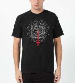 Black Scale Black Rose Cross T-Shirt Model Picture