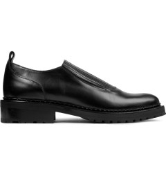 Carven Black Elastic Low Top Leather Shoes Picture