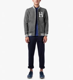 HUF Navy Fulton Chino Pants Model Picture