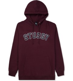 Stussy Maroon MLB Hooded Sweater Picture