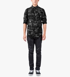 Lazy Oaf Black Chalk Board L/S Shirt Model Picutre