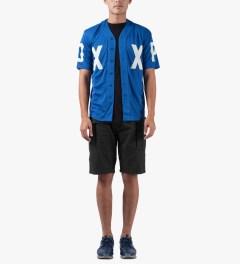 10.Deep Black High Post Shorts Model Picutre