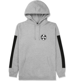 Stussy Heather Grey Worldwide Dot Hoodie Picture