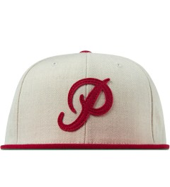 Primitive Heather/Burgundy Classic P Robble Snapback Cap Picutre