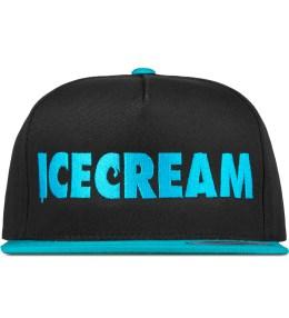 ICECREAM Black/Sax Blue Cone & Spoon Snapback Cap Picture