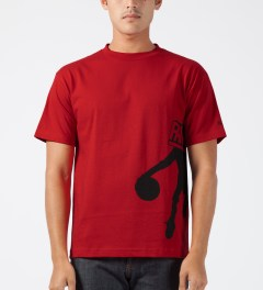 Hall of Fame Red Blockhead T-Shirt Model Picture