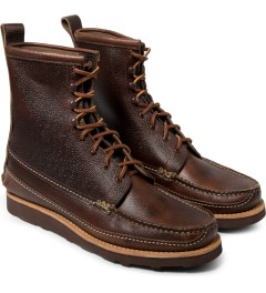 Yuketen SG Brown Maine Guide DB Boots Model Picture