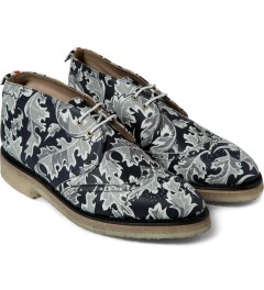Thom Browne Navy Leaf Camo Print Wingtip Chukka Boots Model Picutre