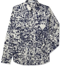 Carven Marine/Creme Printed Poplin Shirt Picture