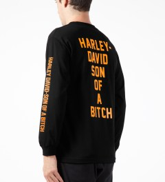 FUCT Black Harley David Son of a Bitch L/S T-Shirt Model Picture