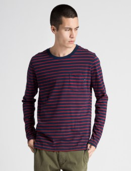 ONLY Navy Ludlow L/S Pocket T-Shirt Picture
