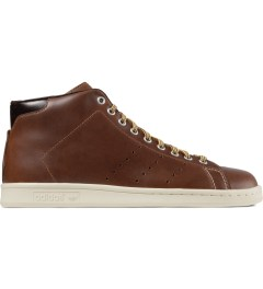 adidas Originals Brown MCN Stan Smith Mid 84-Lab Shoes Picutre