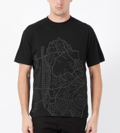 ICNY Black Map S/S Dri Balance T-Shirt Model Picture