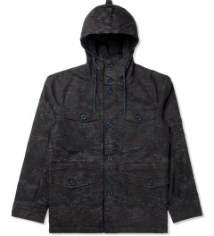 Shades of Grey by Micah Cohen Camo Over Dyed Hawaiian Quilted Four Pocket Parka Jacket Picture