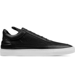 Filling Pieces TSA Woven Black Low Top Sneakers Picture