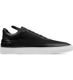 Filling Pieces TSA Woven Black Low Top Sneakers Picutre