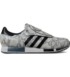 adidas Originals White/Black/Grey Micropacer OG Snakeskin Shoes Picture