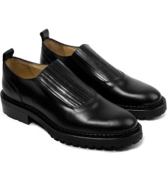 Carven Black Elastic Low Top Leather Shoes Model Picture